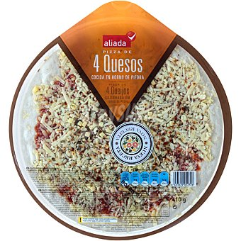 Aliada Pizza fresca de 4 quesos Envase 410 g