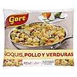 Ñoquis de pollo y verduras congelado  Paquete 600 g Gort