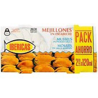 Ibéricas Mejillón en escabeche Pack 2x120 g