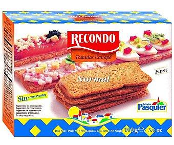 Recondo Tostadas para canapé cuadradas 5 packs Estuche 100 g