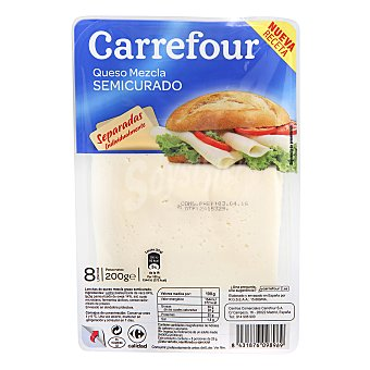 Carrefour Queso en lonchas semi 200 g
