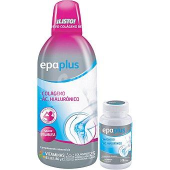 Epaplus Colágeno y ac.hialurónico bebible de frambuesa + Magnesio y ac.hialurónico 28 comprimidos 1 unidad