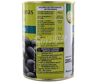 Productos Económicos Alcampo Aceitunas negras con hueso 150 gramos