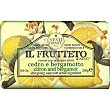 Il Frutteto jabón con ingrediente activo cedro y bergamota pastilla 250 g Nesti dante