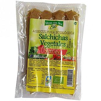 Hijas del Sol salchichas vegetales de seitán ecológicas paquete 200 g