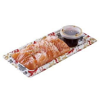 Leroy Sushi sashimi salmon con sesamo blanco y salsa ponzu Bandeja 116 g