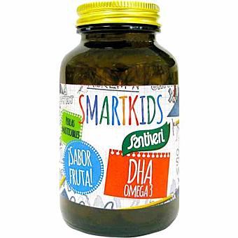 SANTIVERI Smartikids DHA omega 3 sabor fruta 60 perlas masticables para niños Envase 40 g