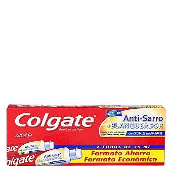 Colgate Dentífrico Anti-Sarro + Blanqueador Tubo Duplo Pack de 2x75 ml
