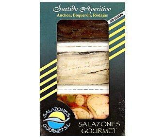 Salazones Surtido de anchoa, boquerones y rejo 3 x 25 gramos