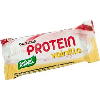 SANTIVERI Barritas proteicas sabor vainilla bañadas con chocolate  envase 35 g