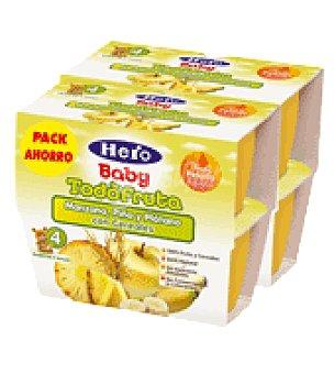 Hero Baby Tarrito manzana, plátano y piña Pack de 8 de 100 ml