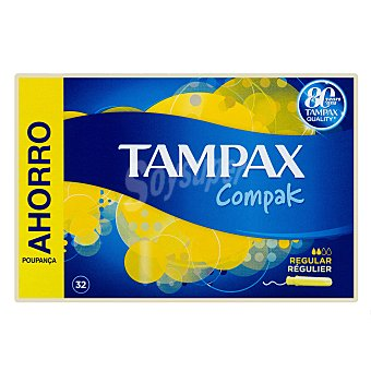 Tampax Tampón regular compacto Caja 32 u
