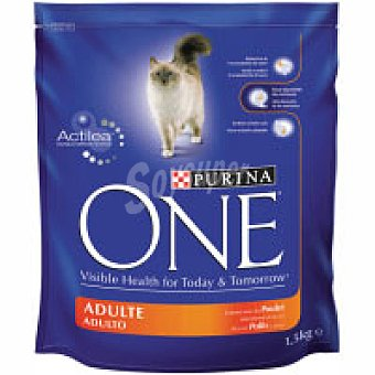 One Purina Alimento de pollo gato adulto 1,5 kg