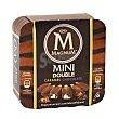 Mini bombón surtido de doble caramelo y doble chocolate Caja 6 u x 60 ml (360 ml) Magnum Frigo