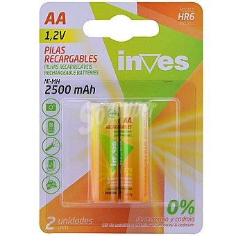 Inves HR6 AA pilas recargables blister 2 unidades 2 unidades