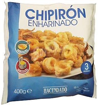 Hacendado Chipiron congelado enharinado Paquete 400 g