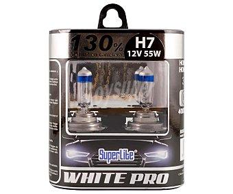 Superlite Bombillas H7, 4000K, 55W, +130% visión, WHITE PRO.