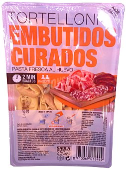 Saula Pasta fresca tortellini relleno embutidos PAQUETE 250 g