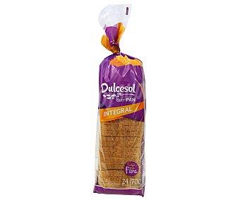 Dulcesol Pan de molde integral con corteza 700 gramos