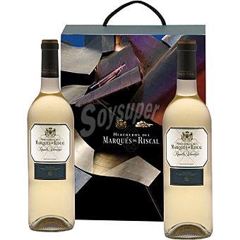 MARQUES DE RISCAL vino blanco verdejo D.O. Rueda  Estuche 2 botellas 75 cl