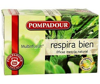 Pompadour Respira Bien multinfusión mezcla natural estuche 20 bolsitas estuche 20 bolsitas
