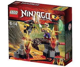 LEGO Juego de construcciones Ninjago, cataratas de lava, 94 piezas, modelo 70753 1 unidad