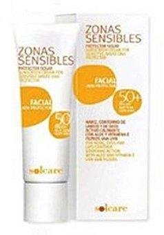 Solcare Protector solar facial zonas sensibles F50+ Tubo 30 cc