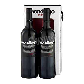 """MONOLOGO Estuche de vino D.O. Ca. """"Rioja"""" tinto crianza pack 2x75 cl"""