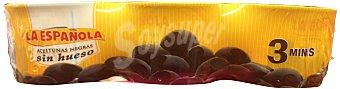 La Española Aceituna negra sin hueso  Pack 3x115 g