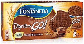 Fontaneda Galletas digestive recubierta con chocolate con leche 200 gr