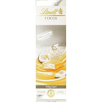 LINDT Chocolate blanco relleno de batido de coco  100 g