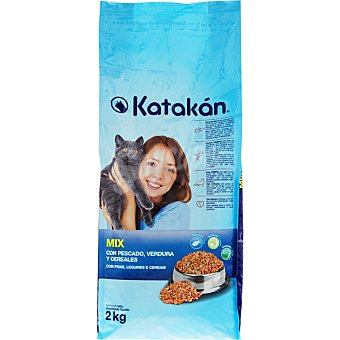 KATAKÁN Alimento Mix para gatos, con pescado, verduras y cereales  Bolsa 2 kg