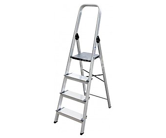ALTIPESA Escalera domestica de aluminio con 3 peldaños con perfíl de 40 milímetros 1 unidad