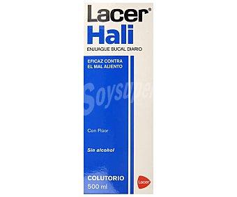 Lacer Colutorio para enjuage dental diario sabor a menta fresca, con fluor y sin alcohol hali 500 ml