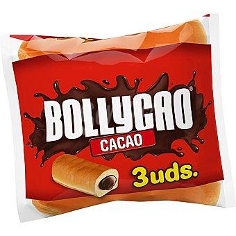 Bollycao Relleno de chocolate envase 225 g Pack ahorro 3 unidades