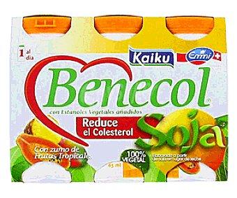 Kaiku Benecol Yogur Soja 4 unidades de 70 gramos