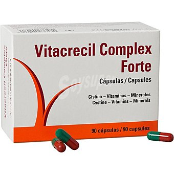 Vitacrecil Complex Forte cistina, vitaminas y minerales para la nutrición de cabellos y uñas caja 90 cápsulas 90 c