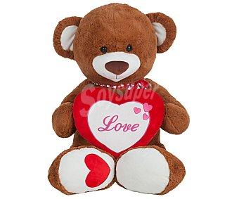 Llopis Osito de peluche de gran tamaño, 110 centímetros con corazón Love, Rit Love 1 unidad