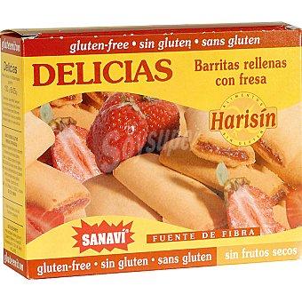 SANAVI Delicias de cereales rellenas con fresas Estuche 150 g