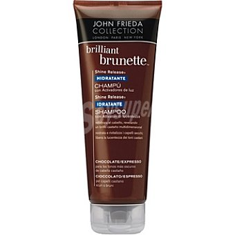 JOHN FRIEDA Brillant Brunette Champú Shine Release chocolate a expresso hidratante Frasco 250 ml