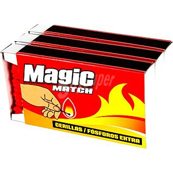 Magic Match cerillas extra pack 3 caja 50 unidades Pack 3 50 unidades
