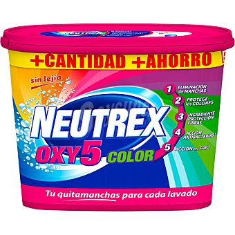 Neutrex Quitamanchas fija color Oxy Bote 18 dosis