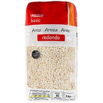 Eroski Basic Arroz redondo extra Paquete 1 kg