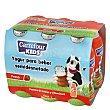 Yogur semidesnatado líquido de fresa Pack de 6 unidades de 100 g Carrefour Kids
