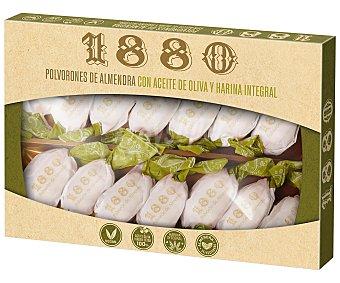 1880 Polvorones de almendra con aceite de oliva y harina integral, vegan 310 g