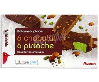 Auchan Bombón helado chocolate y pistacho Bombón Choco/Pist12x60ml