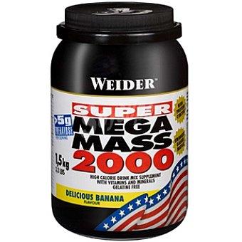 WEIDER Mega Mass 2000 Hidratos de carbono sabor banana Bote 1,5 kg
