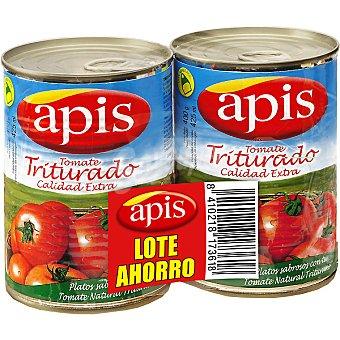Apis tomate natural triturado lote ahorro neto escurrido pack 2 latas 410 g