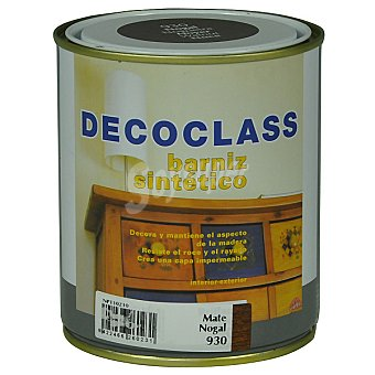 DECOCLASS Barniz sintético mate color nogal 750 ml 750 ml