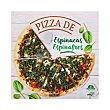 Pizza congelada de espinacas Estuche 396 g Hacendado